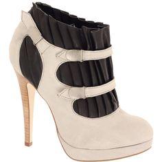 ASOS ALICE Leather Pleat Denim Boot found on Polyvore