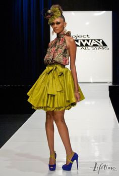 "Project Runway...i like the big bow & the color of the skirt- but would def have to ""de-poof"" it a tad for my style! ha"