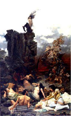 NICOLAU COTANDA, Vicente (1852-1898)  La visión de Fray Martín 1892 Oil on canvas, 330 x 202,5 cm National Museum of Fine Arts in Buenos Aires