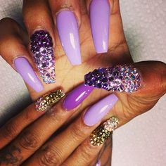 Purple and gemstones...too much but love the art.
