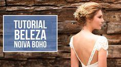 Vídeo novo no YOUTUBE! Tutorial de beleza para noiva boho: maquiagem iluminada + coque trançado com flores ( Vídeo: Produtora 7 | Maquiagem: Roosevel Vanini do C. Kamura | Penteado: Isac Muniz do C. Kamura | Vestido: Emannuelle Junqueira | Modelo: Marina Helms )