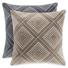 Our cotton velvet geometric embroidered pillow is perfect for a unique and modern update. The deep grey/soft taupe cotton velvet combines ivory and natural embroidery detail for an intricate geometric design. Modern Throw Pillows, Throw Pillows Bed, Outdoor Throw Pillows, Decorative Throw Pillows, Accent Pillows, Natural Cushions, Pillows Online, Geometric Throws, Cotton Velvet
