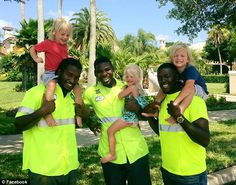 Meet the Florida triplets who have formed a special bond with their local garbage men   Daily Mail Online