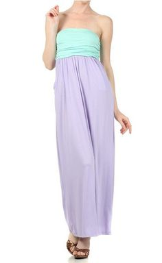 Tube Maxi Dress, BUT this  one has adorable pockets! Get yours now at hohshop com for only $39.50.