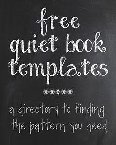 Quiet Book Pattern Directory - huge list of places to find quiet book templates!