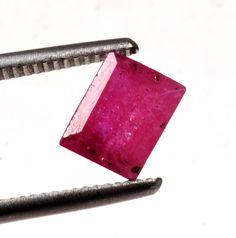 MGL Certified 2.48CT Rect Mixed Natural Ruby Gemstone Gem No-3605 MADAGASCAR