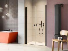 Drwi prysznicowe z czarnymi profilami i uchwytami Radaway Nes 8 Black DWD. #radaway #nowemieszkanie #instapic #projektowaniewnetrz #BathroomShower #projektowaniewnetrzkrakow #ShowerSystems #kabiny #prysznicowe #homebook #mynordicroom #kabinyprysznicowe #mojemieszkanie #projektant Shower Cabin, Cabins, Bathtub, Bathroom, Standing Bath, Washroom, Bathtubs, Shower Enclosure, Bath Tube