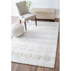 nuLOOM Contemporary Trellis Polysilk Silver Rug (5' x 8') - Overstock Shopping - Great Deals on Nuloom 5x8 - 6x9 Rugs