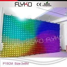 Free Shipping Stage Lighting Effect Pc Controller Led Soft Curtain Display Led Cortinas Led Video Curtain In Short Supply