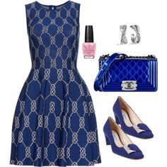 """Feeling Royal Blue and Silver Sunday !!!"" by stylesbypdc on Polyvore"