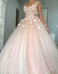 Pink v neck tulle long prom dress, pink evening dress P1498