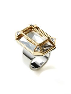 Segment Large Crystal Ring by Swarovski Jewelry at Gilt
