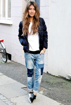 Chic Street Style ♡ Patchwork Denim