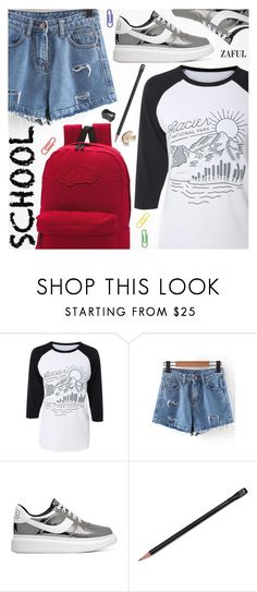 """""""Back To School"""" by pokadoll ❤ liked on Polyvore featuring Vans, polyvoreeditorial, polyvorefashion, polyvoreset and zaful"""