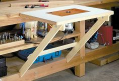 Fold-away router table http://www.woodsmith.com/files/issues/156/fold-away-router-table.pdf