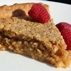 Sugar and oatmeal pie. Apple Desserts, No Bake Desserts, Delicious Desserts, Dessert Recipes, Yummy Food, Mug Recipes, Cooking Recipes, Recipies, Pie Crust Designs