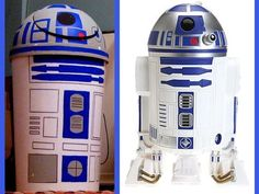 DIY - R2-D2 trashcan tutorial . LOL- If someone makes this I would love to see the photos!