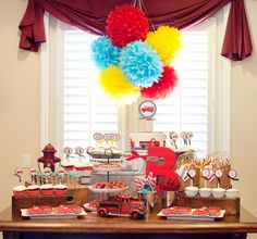 Vintage firetruck party  {printables by Anders Ruff}