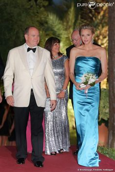 03 AUGUST 2013  Red Cross Ball 2013 Prince Albert,Princess Charlene and  Princess Caroline attended the 65th Monaco Red Cross Ball Gala at Sporting Monte-Carlo in Monte-Carlo.