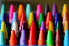 Crayons - i can just smell them after just opening a brand new box . . . first day of school