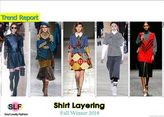 Long-sleeves Shirt Layering #Fashion Trend for Fall Winter 2014 #Trends #Fall2014 #FW2014