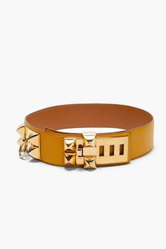 HERMES VINTAGE Soleil Epsom Leather Collier de Chien Belt       -- omfg <3