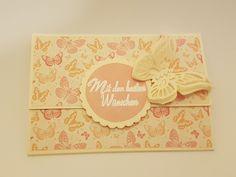 Mit den besten Wünschen - DIY - Geburtstagskarte - Schmetterling