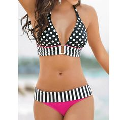 Gender: Women Item Type: Bikinis Set is_customized: Yes Pattern Type: Patchwork Brand Name: Vakind Waist: Mid Waist Material: Polyester Material: Spandex Color Style: Contrast Color Color: Black&White