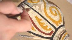 Como pintar con Granoulage - Vasija - Judith Moron Tribal Tattoos, Youtube, Eyes, Painting, Beauty, How To Paint, Paintings, Art, Painting Art