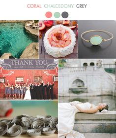 Get Inspired...Coral & Chalcedony! - Lucky in Love Wedding Planning Blog - Seattle Weddings at Banquetevent.com