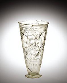 Roman Glass: Beaker with Atalanta and Hippomenes, 100-299 | Corning Museum of Glass