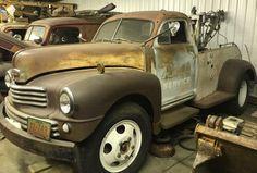 Perfect Patina: 1949 Nash Tow Truck #Oddballs, #Trucks #Nash - https://barnfinds.com/perfect-patina-1949-nash-tow-truck/