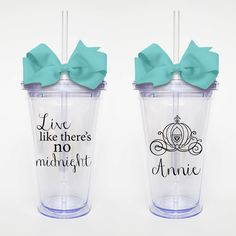 Cinderella Quote LIve LIke There's No Midnght by SweetSipsters, $15.00