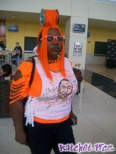 Orange spool in hair - Ratchet | Ghetto fashion | Pinterest ...