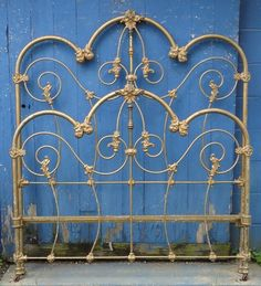 Vintage Beds, Antique Beds, Iron Headboard, Cabin Design, Bed Styling, Cozy Bedroom, Wrought Iron, Candle Sconces, Wall Lights