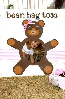 Teddy Bear Picnic: bean bag toss game