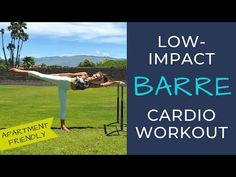 Low impact cardio barre workout that will get your heart-rate up quickly. There is no jumping involved. This apartment friendly workout will sculp. Barre Moves, Barre Workout Video, Barre Exercises At Home, Shred Workout, Home Workout Videos, Dumbbell Workout, Boxing Workout, Barre Workouts, Hiit