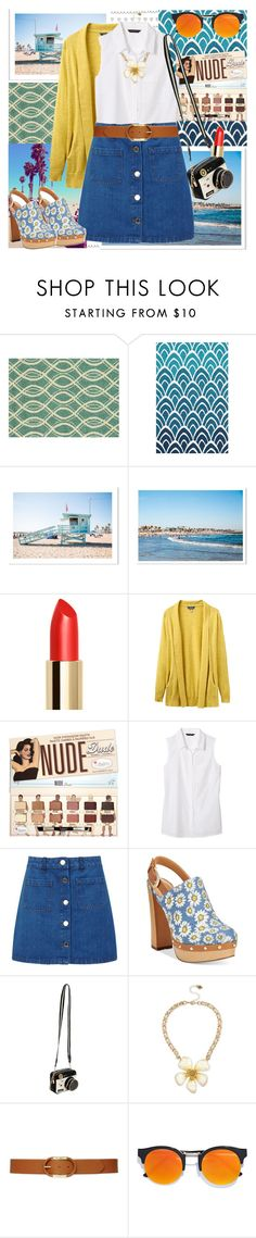 """""""Flower Power! """" by fashionistajane1 ❤ liked on Polyvore featuring Loloi Rugs, Joules, Banana Republic, Miss Selfridge, Report, Betsey Johnson, Lauren Ralph Lauren and LULUS"""