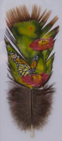 Hand Painted Turkey Feathers