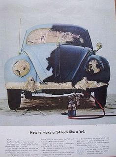 Advertisement - How to make a '54 into a '64, VW Beetle