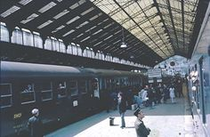 Train to Marseilles, from Lyon on Rhone, France, fot. Lindsay Bridge (1970s)