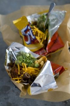 The Walking Taco:  great idea for camping