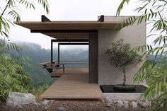 Love the simplicity of structure in this proposed meditation pavilion! And the timber/concrete combo is perfect! Cantilever Architecture, Architecture Details, Interior Architecture, Le Logis, Design Exterior, Container House Design, Modern House Design, Future House, House Plans