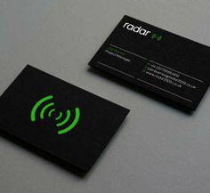 Black Business Card Designs Inspiration: Radar Identity Business Card designed by Adam Morris