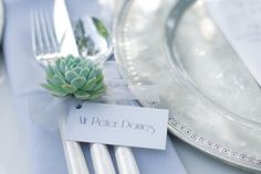 contemporary table cutlery detail by blue sky flowers