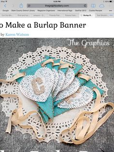Thank you, Karen!  Great idea!  I may try using vintage doilies behind the letters.