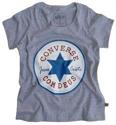 Camisa Converse com Deus - Feminina Tam. GG - Camisas - Moda - Shopping do Povo