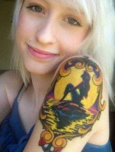 mermaid tattoos designs for girl on sleeve