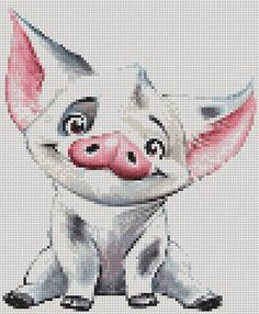 This listing is a PDF file of the pattern PUA THE PIG, not the finished product. It is simple and suitable for beginners. This PDF counted cross stitch pattern available for instant download. This PDF pattern include cross stitch pattern (in colors and black and white symbols) with