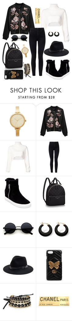 """""""Untitled #588"""" by hebaamir ❤ liked on Polyvore featuring Michael Kors, Alexandre Vauthier, J Brand, Steven by Steve Madden, Palm Beach Jewelry, Sole Society, Gucci, Avon and Chanel"""